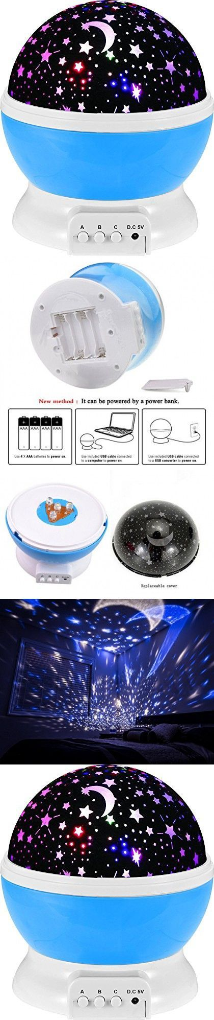 Bedroom planetarium projector for kids - Constellation Night Light Projector Lamp From Kalston Offers 4 Bright Colors With 360 Degree Moon Star Baby Bedroomkids