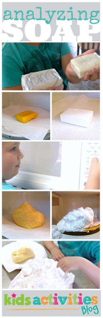 Compare and contrast microwave soap experiment for kids is lots of fun #preschool #science