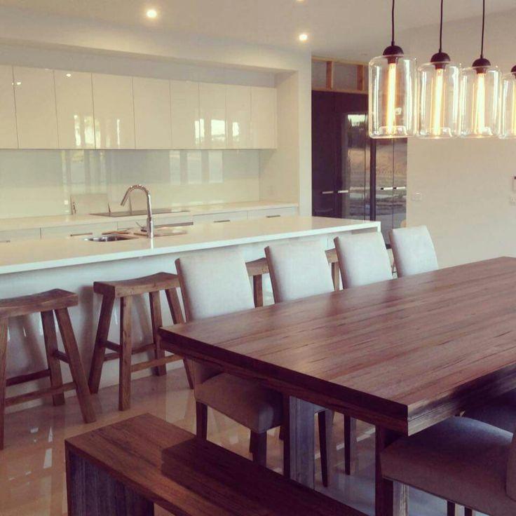 #kitchen inspiration #home #white #diningtable