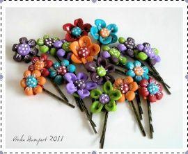 clay hair pins