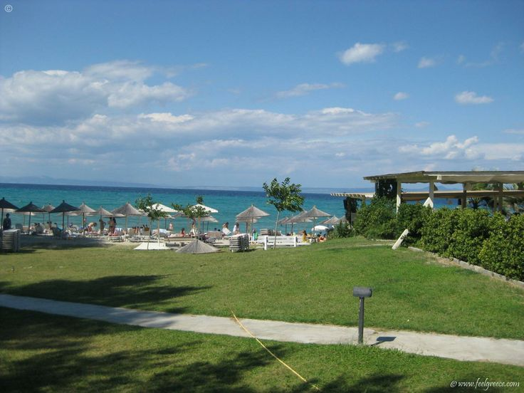 Molos Beach Bar in Hanioti, Blue Flag awarded beach in Kassandra