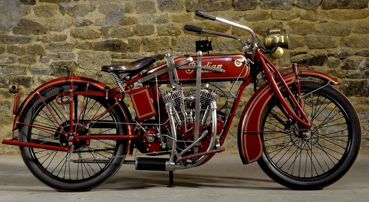 Old Indian Motorcycle - (1916) Indian Powerplus 1000cc