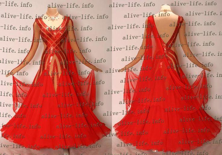 社交ダンスドレス・衣装のSwan Japan / WB-3216 レッド
