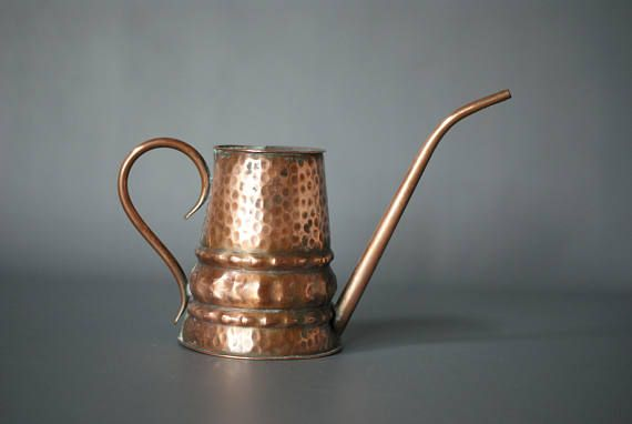 COPPER WATERING CAN Vintage Copper Watering Can Handmade