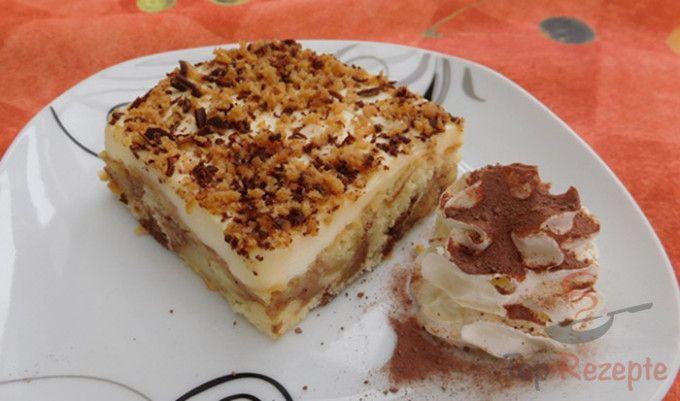 Biskuit Pudding Kuchen Mit Sahnecreme Mit Fotoanleitung Rezept Pudding Kuchen Pecan Bars Und Sahnecreme