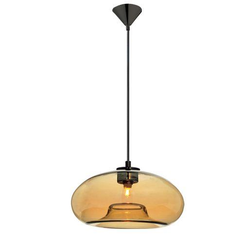 Φωτιστικό Κρεμαστό Κεχριμπάρι Γυαλί - Οροφής (Ledokosmos.gr)