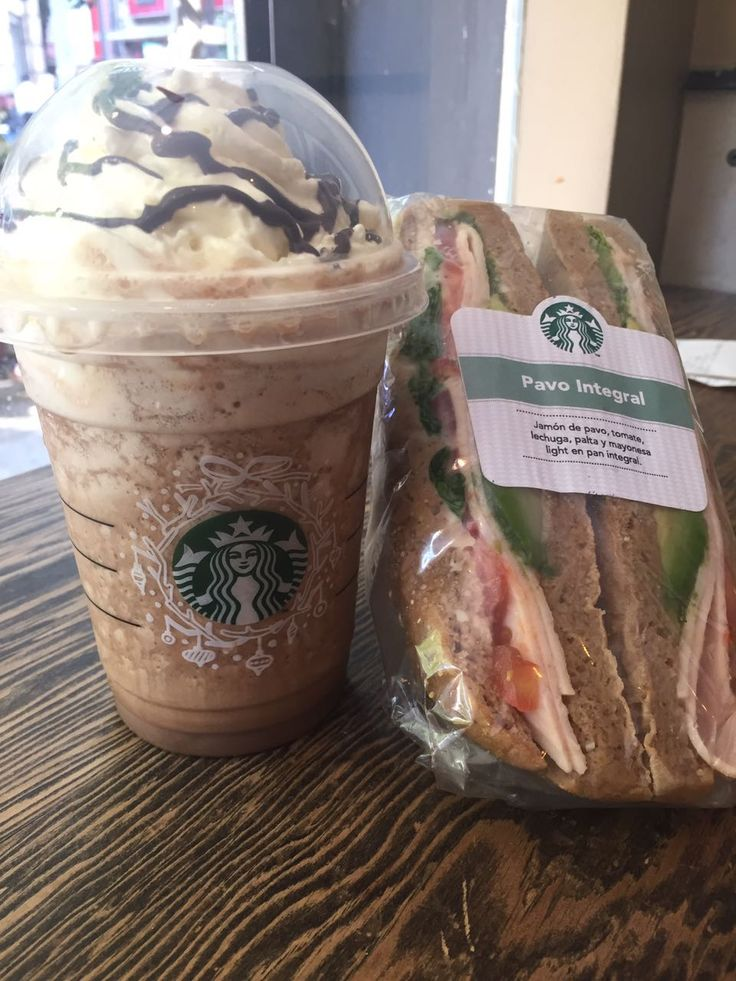 Cookie and cream y Pavo Integral. Starbuck- Santiago