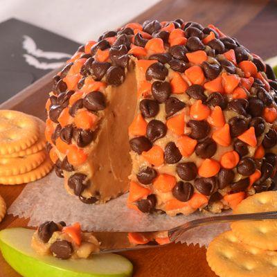 """Halloween Peanut Butter """"cheese"""" ball"""