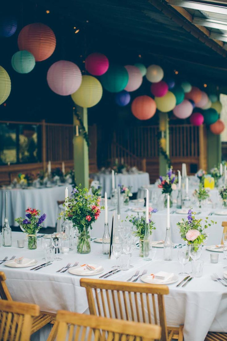 274 best images about hanging paper lanterns on pinterest for Discount wedding reception decorations