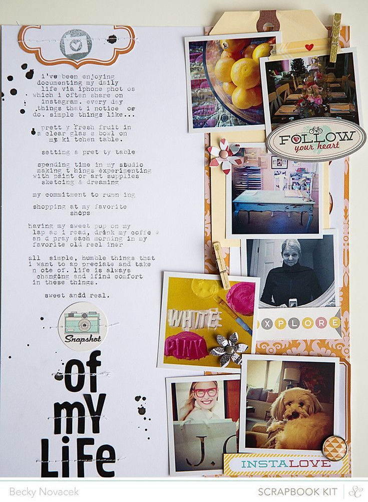 snapshot of my life by beckynovacek | Scrapbooking Kits, Paper & Supplies, Ideas & More at StudioCalico.com!