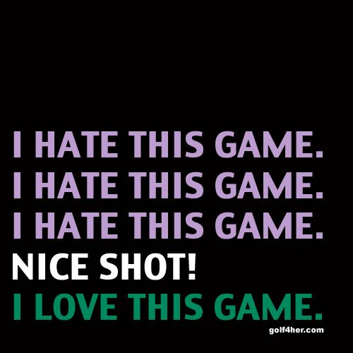Who else has a love-hate relationship with #golf?   #golf4her