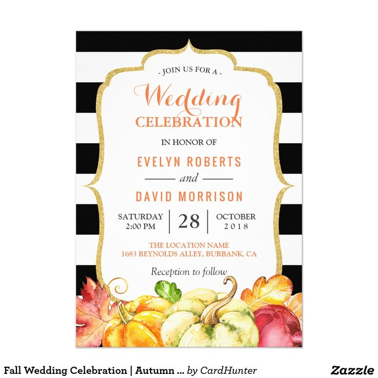 451 best FALL WEDDING Invitations images on Pinterest | Fall ...