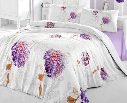 Купить постельное белье ALTINBASAK HIDRA фиолетовое 50х70 1,5-сп от производителя Altinbasak (Турция)