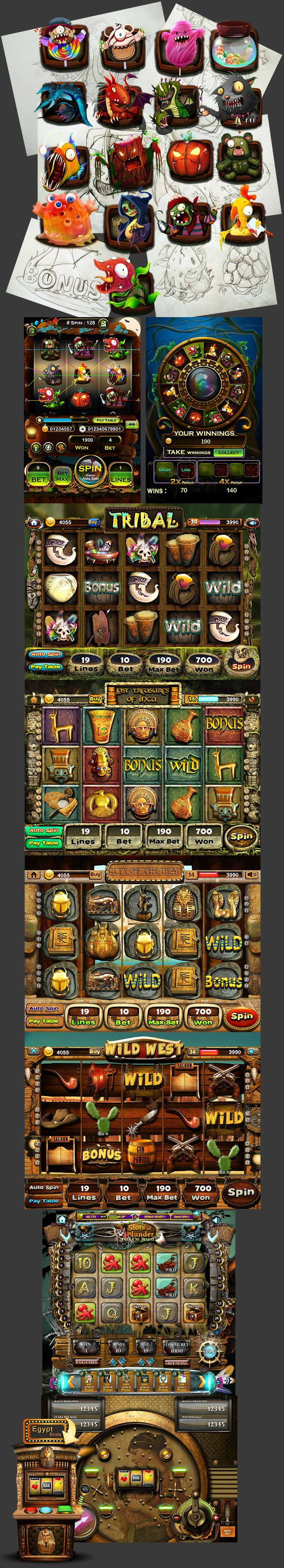 Casino Game Art, Slot Machines on Behance