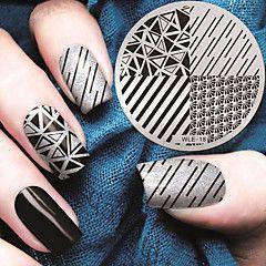 placas plantilla imagen Sellado del clavo del patrón geométrico 2016 versión más reciente de la moda