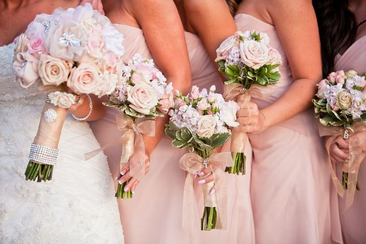 Bridal Flowers Blush Pink : Blush pink wedding flowers bouquets and boutonnieres
