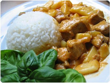 Pollo al curry con zucchero di canna