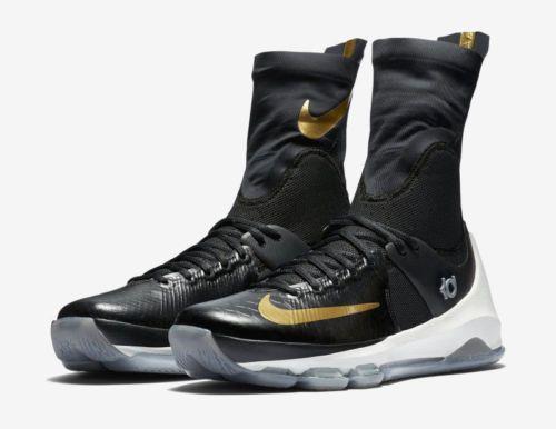 NEW NIKE KD 8 ELITE BASKETBALL SHOES BLACK/METALLIC GOLD/SAIL 834185 071 SZ 9 Clothing, Shoes & Accessories:Men's Shoes:Athletic