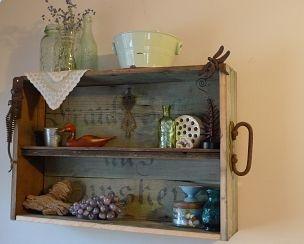 Trunk repurposed into shelf