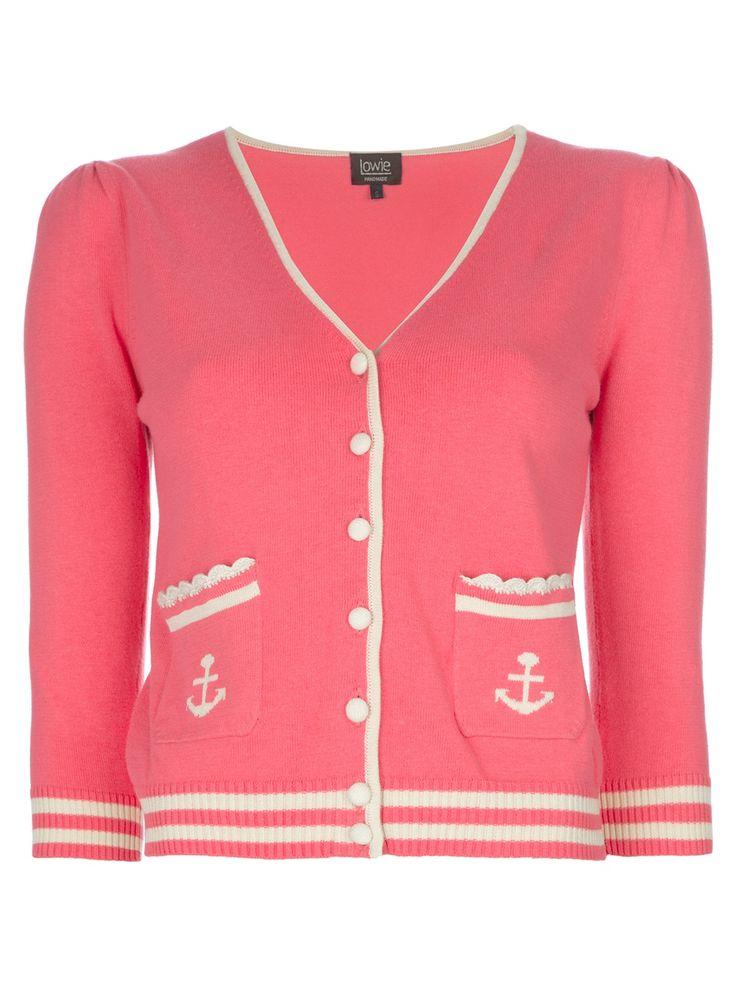 LOWIE pink nautical cardigan #farfetch