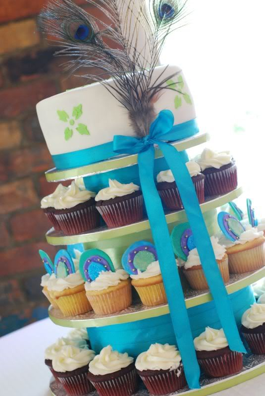 50 best peacock cupcake tower images on Pinterest Peacock cupcakes