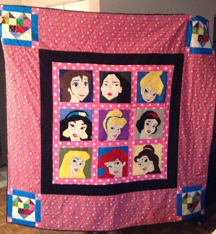 disney quilt pattern | Disney Princess Quilt