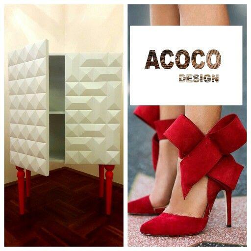 #acoco #wood #drewno #red #nogi #meble #acocostyle #artdeco