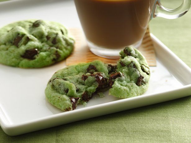 Mint chocolate chip cookies - possibly the best in the entire world.