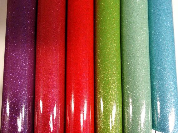 12 Rolls 12 Quot X54 Quot Glitter Vinyl With Woven Back For