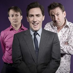 Would I lie to you? David Mitchell, Rob Brydon, and Lee Mack