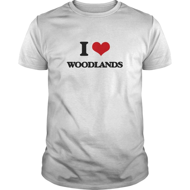 I love Woodlands - Know someone who loves Woodlands? Then this is the perfect gift for that person. Thank you for visiting my page. Please share with others who would enjoy this shirt. (Related terms: I love WOODLANDS,copse,forest,timberland,weald,wood,woods,Eastern woodlands...)