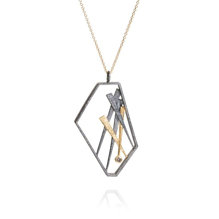 Todd Reed Jewelry, Geometric Pendant, Patina Necklace, Womens Designer Necklace, Artisanal Fashion, Modern Wear, Abstract Jewelry, One-of-a-kind