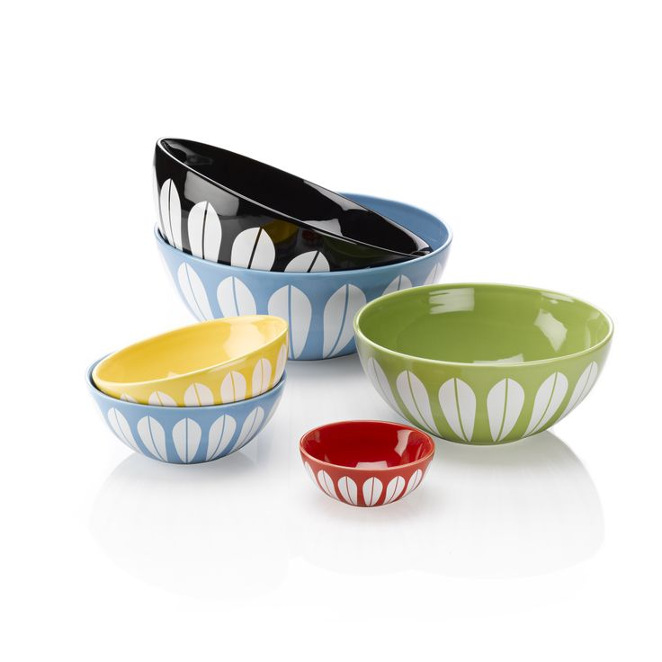 {Lucie Kaas} the lotus collection  -- want these for my kitchen! My mom had a set when I was a kid, miss those!