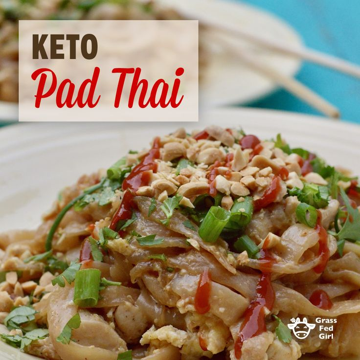 Keto Pad Thai Recipe that is low carb, dairy free and paleo friendly.