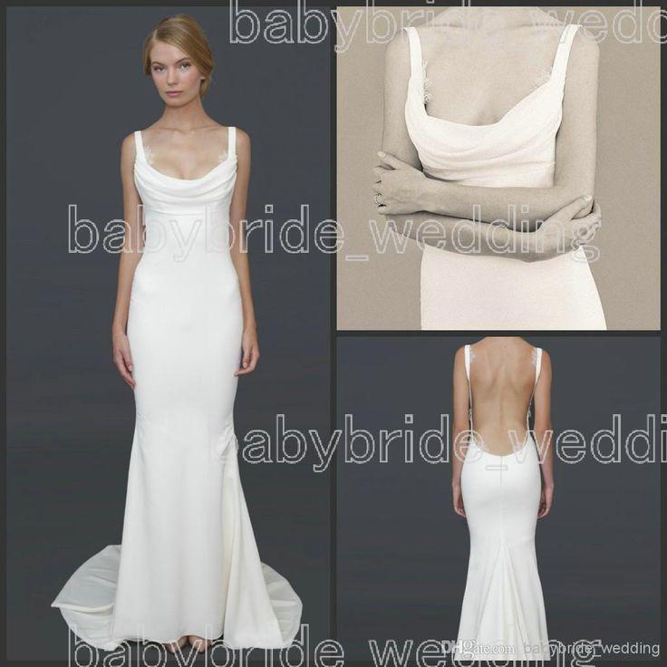 25 best cowl neck wedding dresses images on Pinterest   Bridal ...