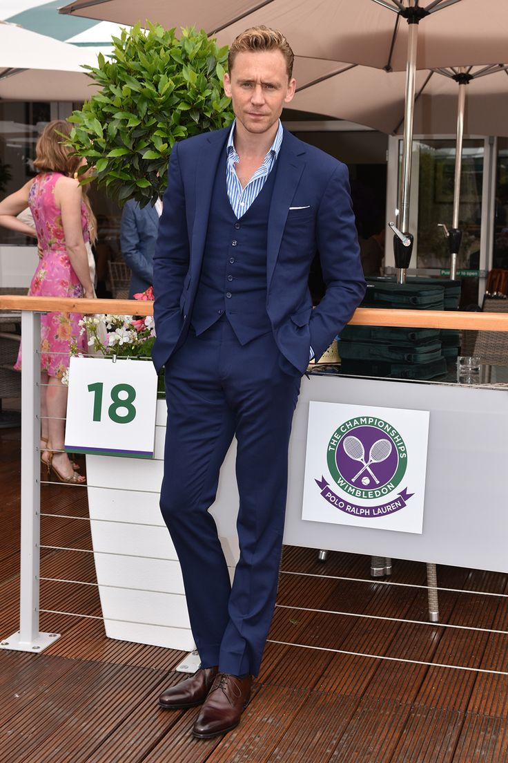 Tom Hiddleston in Ralph Lauren at Wimbledon 2015: Celebrity Pictures | Harper's Bazaar