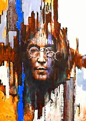 Psychedelic Lennon. STUNNING PRINT. PRINT OUT AND FRAME THIS AWESOME PIC OF MY JOHN LENNON, BEAUTIFUL SOUL!
