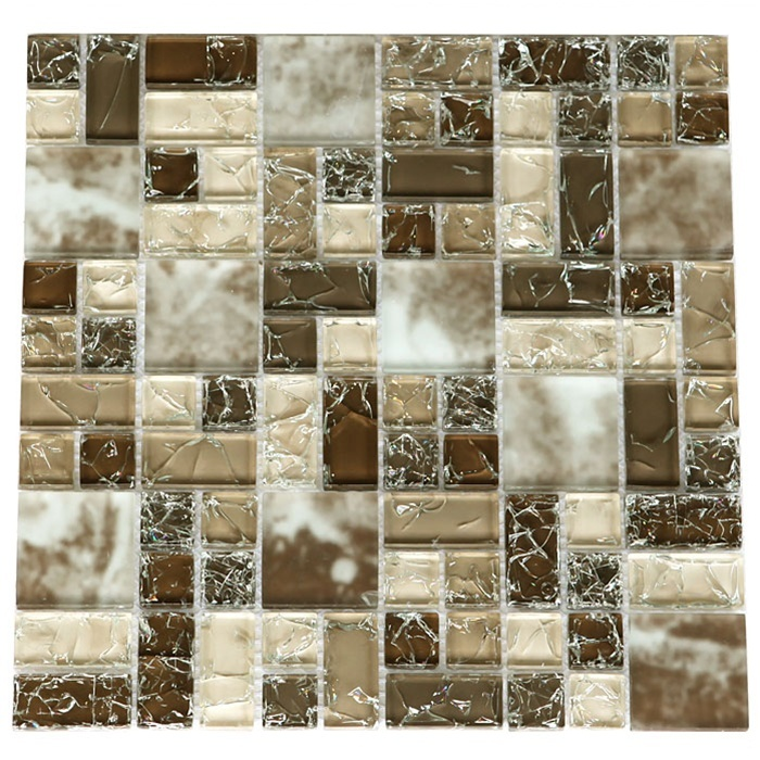 Sample Cream Crackle Glass Mosaic Tile Kitchen Backsplash: 17 Best Images About Kitchen Backsplash Ideas On Pinterest