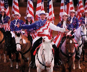 Dolly Partons Dixie Stampede Dinner & Show - Branson, MO - Magnificent riders, live buffalo, and a delicious meal are just the beginning of the excitement offered at the Dixie Stampede Dinner and Show.