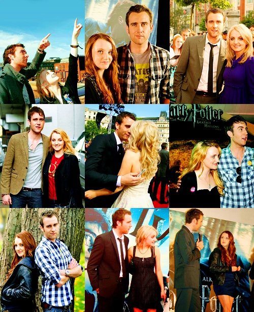 Evanna Lynch and Matthew Lewis! They are super cute, just like Neville and Luna!