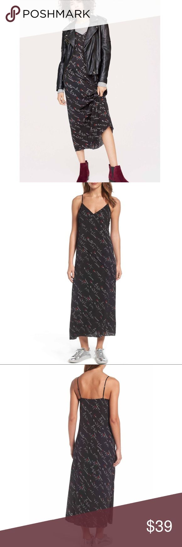"NWT Treasure & Bond Black Floral Slip-dress Size S Brand new with tag.    100% polyester   Size: S  🌹Pit to pit: 17""  🌹Length: 48""  🌹condition: NWT ( brand new with tag)   💋open to offers 💋bundle for discount  B31 Treasure & Bond Dresses Backless"