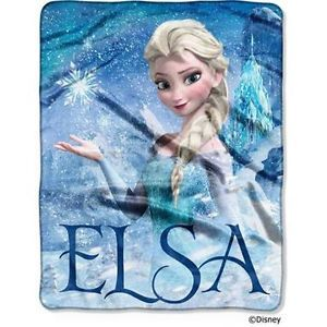 DISNEY FROZEN SILK Touch Fleece Throw Blanket ELSA Palace