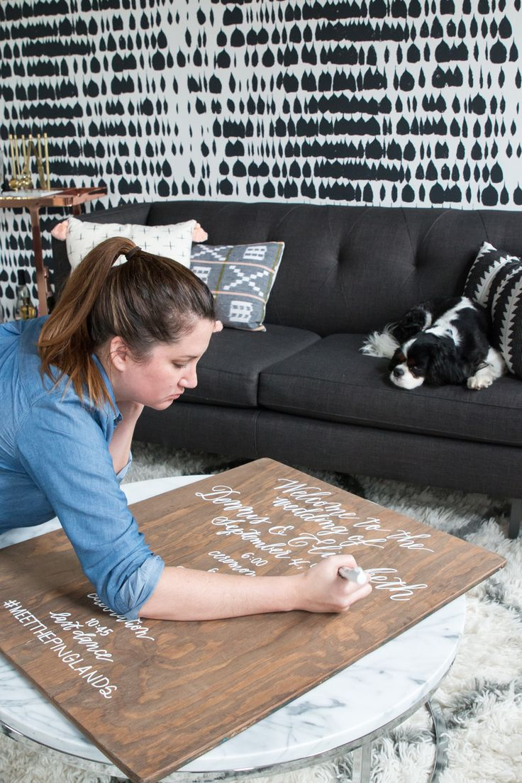 Tips for lettering on wood for wedding welcome signs & more