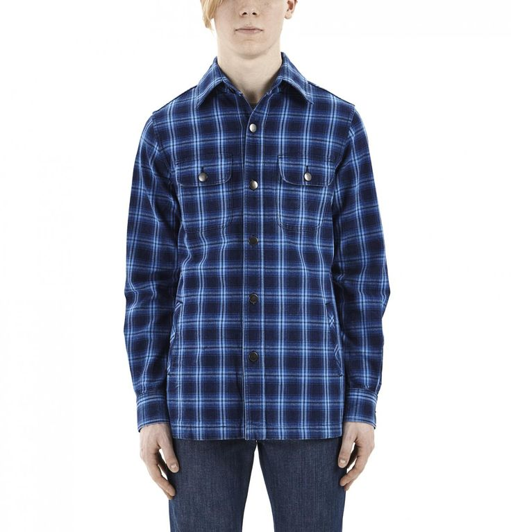 Blue Plaid Overshirt