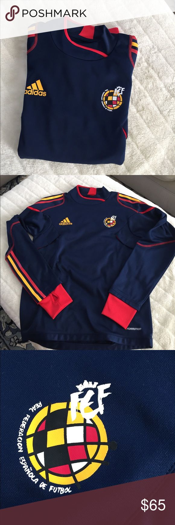 REAL FEDERACION ESPAÑOLA DE FÚTBOL ⚽️ SWEATER. Very good condition. This came out when Spain won the Fútbol World Cup adidas Shirts Sweatshirts & Hoodies