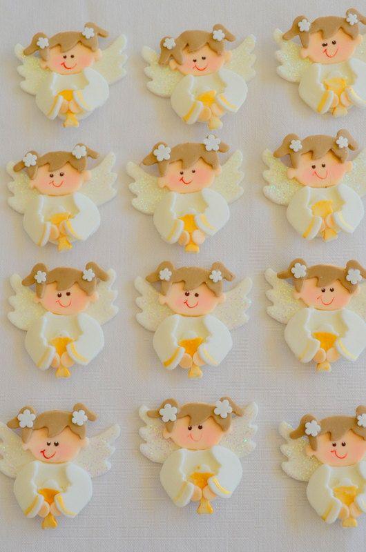 DOZEN First communion cupcake topper. Girl first communion cupcake toppers…