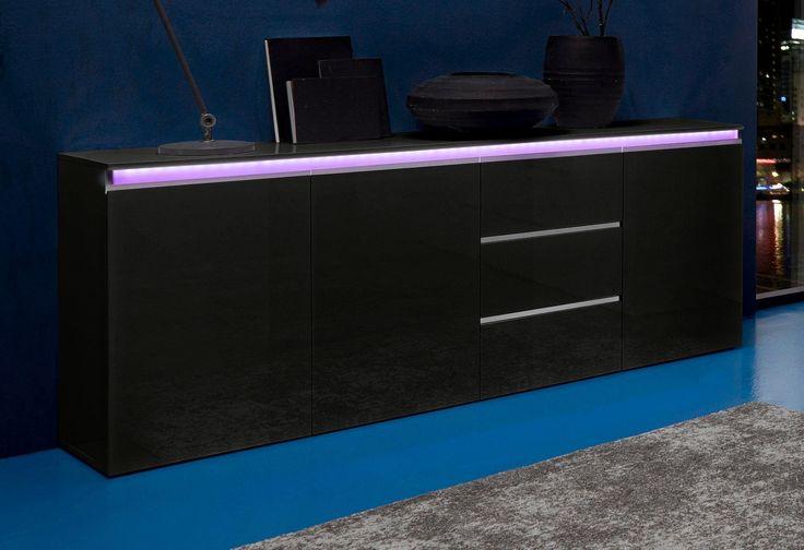 TECNOS Sideboard schwarz, mit Schubkästen, FSC®-zertifiziert Jetzt bestellen unter: https://moebel.ladendirekt.de/wohnzimmer/schraenke/sideboards/?uid=6823074c-50e6-5b91-9224-0aa3640697cb&utm_source=pinterest&utm_medium=pin&utm_campaign=boards #schraenke #sideboard #wohnzimmer #sideboards