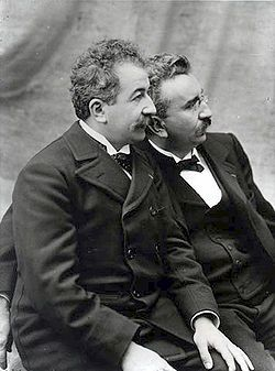 Auguste and Louis Lumiere -The Autochrome Lumière is an early color photography process. Patented in 1903 by the Lumière brothers in France and first marketed in 1907, it was the principal color photography process in use before the advent of subtractive color film in the mid-1930s.