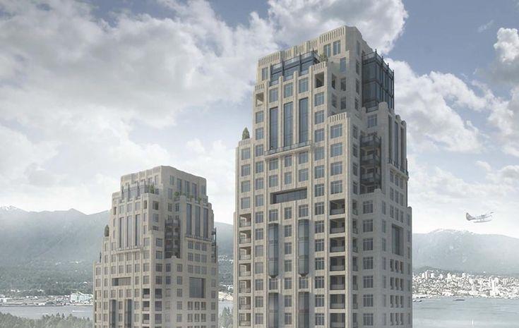 A rendering of Landa Global Properties's proposed condo towers at 1400 Alberni St., to be built to passive-house standards. | Landa Global