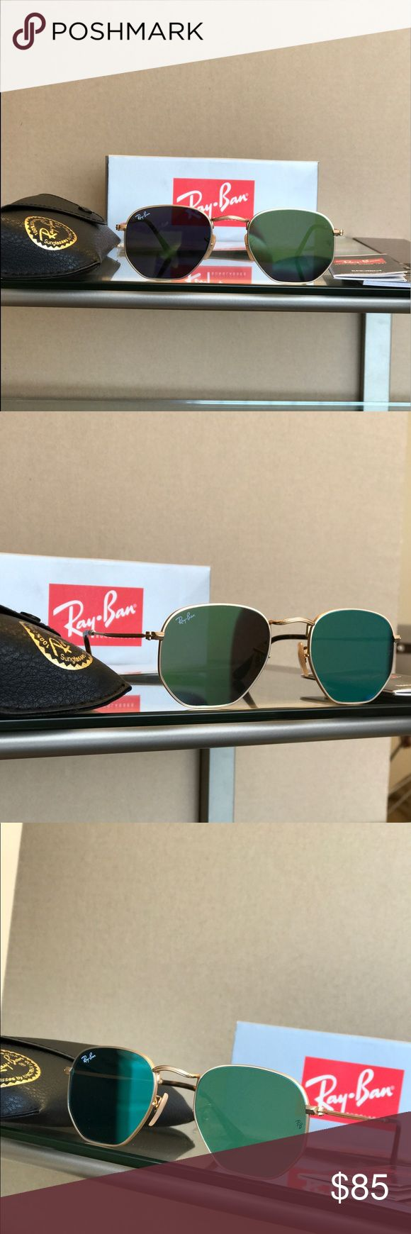 100% Authentic Ray-Ban Hexagonal Sunglasses 51mm Get yourself a beautiful pair of brand new Ray-Ban Hexagonal sunglasses for 65% off retail price! Please refer to the details below to get a better idea of what you are purchasing:  •These are 100% Brand Ne
